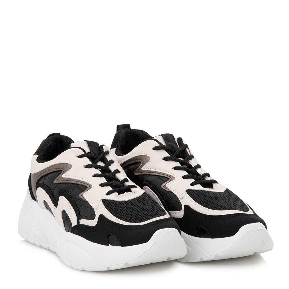 Chunky sneakers με κορδόνια