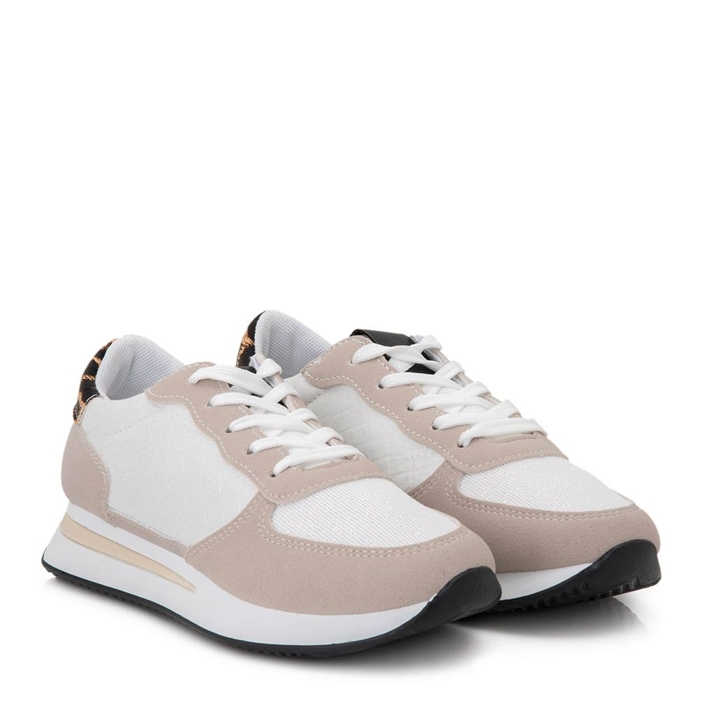 Sneakers με κορδόνια και glitter