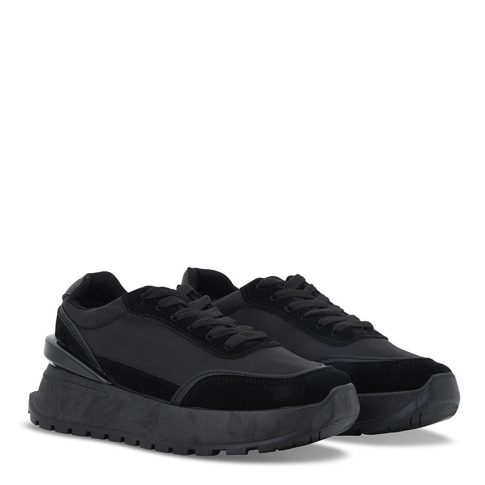 Sneakers δίπατα με κορδόνια