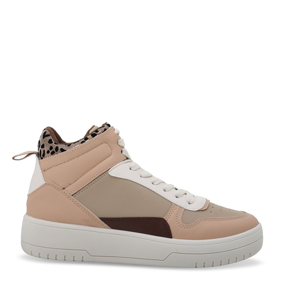 Sneakers μποτάκια με κορδόνια